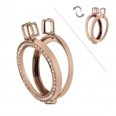 Emozioni DP556 Reversible Rose Gold Plated Keeper - 25mm