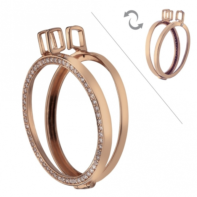 Emozioni DP557 Reversible Rose Gold Plated Keeper - 33mm