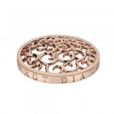 Emozioni EC152 Rose Gold Tone Winding Paths Coin - 33mm