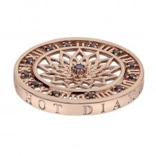 Emozioni EC156 Rose Gold Tone Time Traveller Coin - 33mm