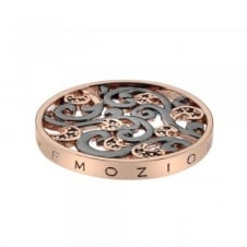 Emozioni EC206 Oxidised Silver And Rose Tone Edera Coin - 33mm