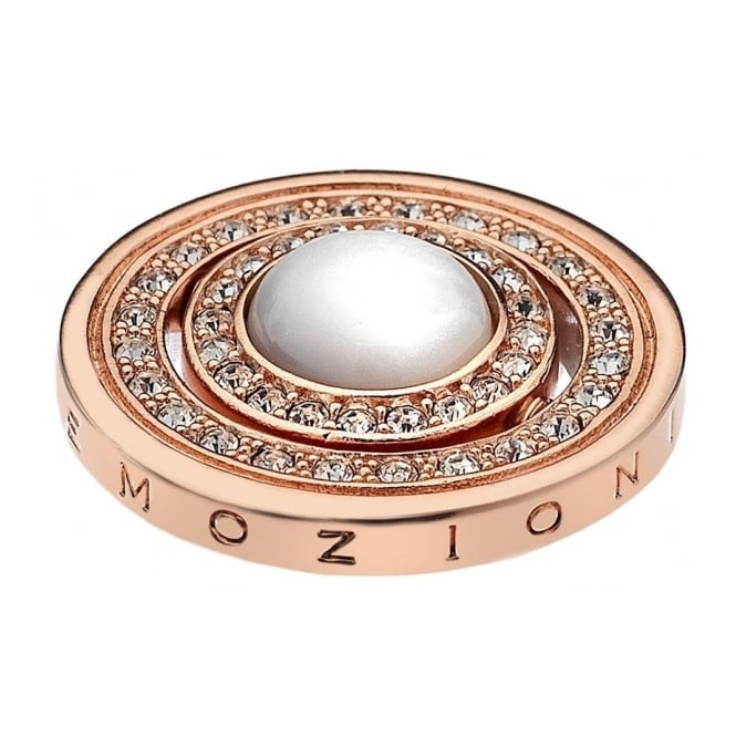 Emozioni EC239 Mare E Nubi Rose Gold Plated Coin - 25mm
