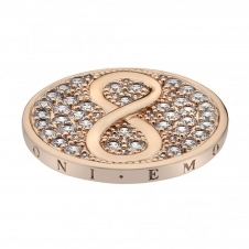 Emozioni EC431 Infinity Rose Gold Plated Coin - 33mm