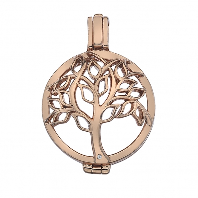 Emozioni EK041 Vita Tree Of Life Sterling Silver Coin Keeper - 25mm