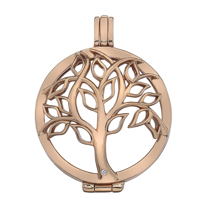 Emozioni EK042 Vita Tree Of Life Sterling Silver Coin Keeper - 33mm