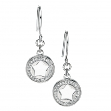 Fiorelli Silver E4676C Silver Stone Set Drop Earrings