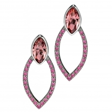 Fiorelli Silver E4679P Silver Pink Marquise Stone Set Stud Earrings