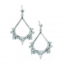 Fiorelli Silver E4874C Silver Stone Set Drop Earrings
