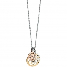 Fiorelli Silver P4073 Silver And Gold Three Disc Pendant