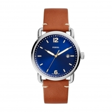Fossil FS5325 The Commuter Three Hand Brown Leather Wristwatch
