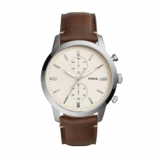 Fossil FS5350 Townsman Chronograph Brown Leather Wristwatch