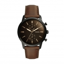 Fossil FS5437 Townsman Chronograph Brown Leather Wristwatch