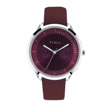 Furla R4251102505 Women's Metropolis Burgundy Red Dial Wristwatch