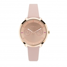 Furla R4251102511 Women's Metropolis Rose Gold Tone Dial Wristwatch