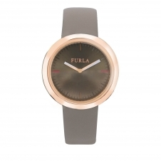 Furla R4251103502 Women's Valentina Brown Dial Wristwatch
