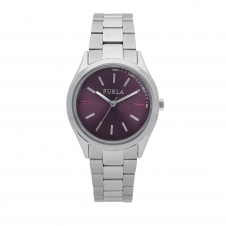 Furla R4253101504 Women's Eva Purple Dial Wristwatch