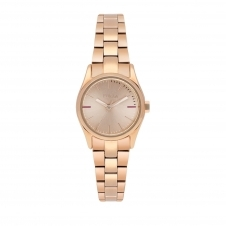 Furla R4253101505 Women's Eva Rose Gold Tone Dial Wristwatch