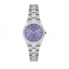 Furla R4253101516 Women's Eva Purple Dial Wristwatch