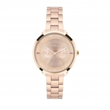 Furla R4253102518 Women's Metropolis Rose Gold Tone Dial Wristwatch