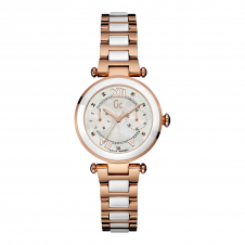 GC Y06004L1 Ladychic White/Rose Gold Tone Wristwatch
