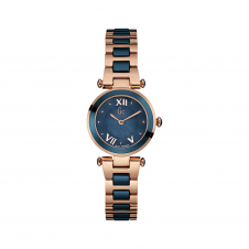 GC Y07010L7 Ladychic Rose Gold/Blue Two Tone Wristwatch