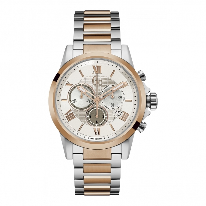 GC Y08008G1 Men's Two Tone Chronograph Wristwatch