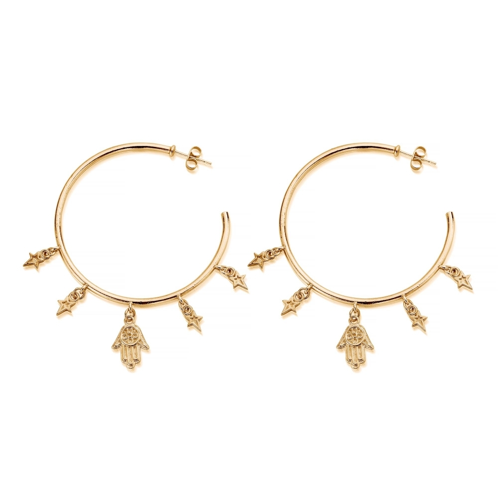 ChloBo GEH2083 Women's Five Days Of Luck Hoop Earrings