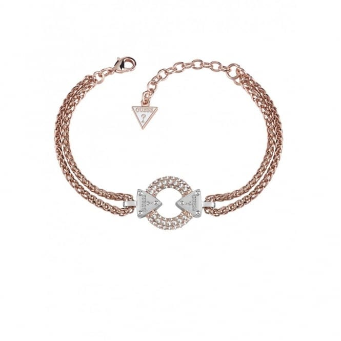 Guess UBB71508-L Women's Embrace Me Double Chain Ring Bracelet