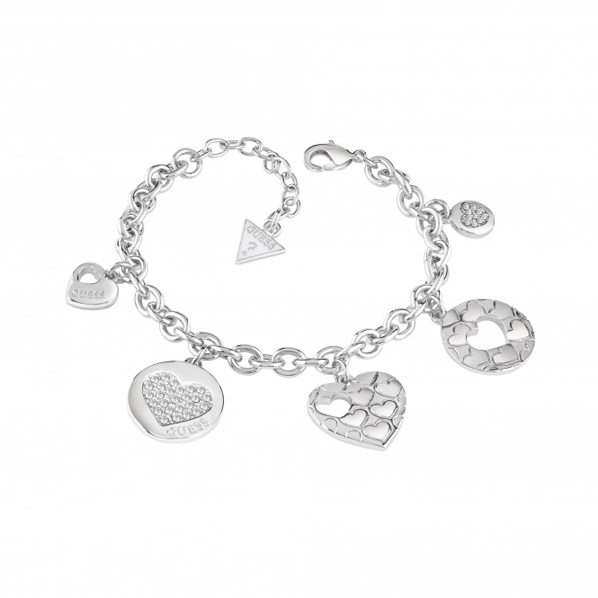 Guess UBB82048-L Women's Heart Devotion Bracelet