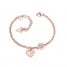 Guess UBB82059-L Women's Heart Devotion Bracelet