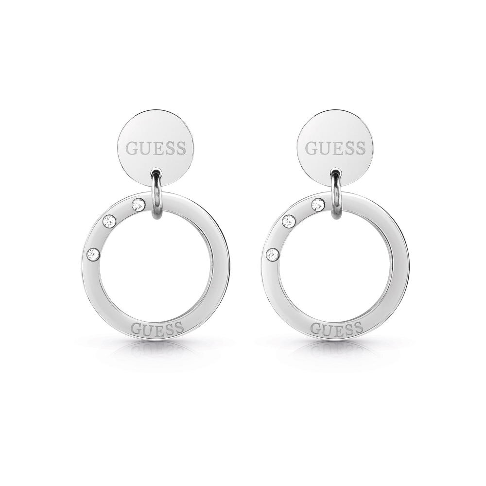 Guess UBE29030 Women's Eternal Circles Small Hoop Earrings