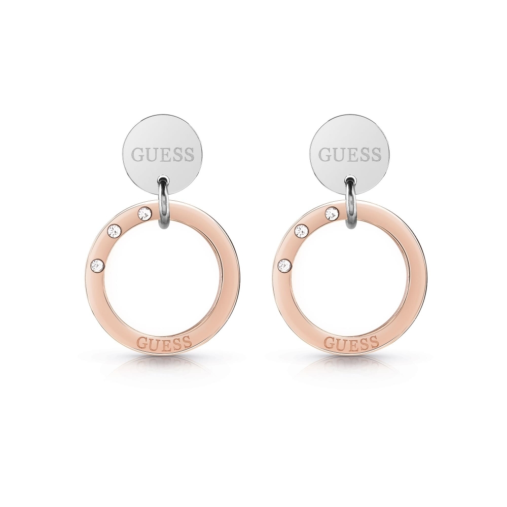 Guess UBE29033 Women's Eternal Circles Small Hoop Earrings