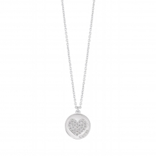 Guess UBN82050 Women's Heart Devotion Pendant Necklace
