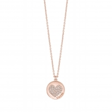 Guess UBN82052 Women's Heart Devotion Pendant Necklace