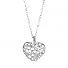 Rachel Galley H102-SV Women's Amore Heart Lattice Pendant