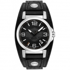 Harley Davidson 76B163 Men's Strap Wristwatch
