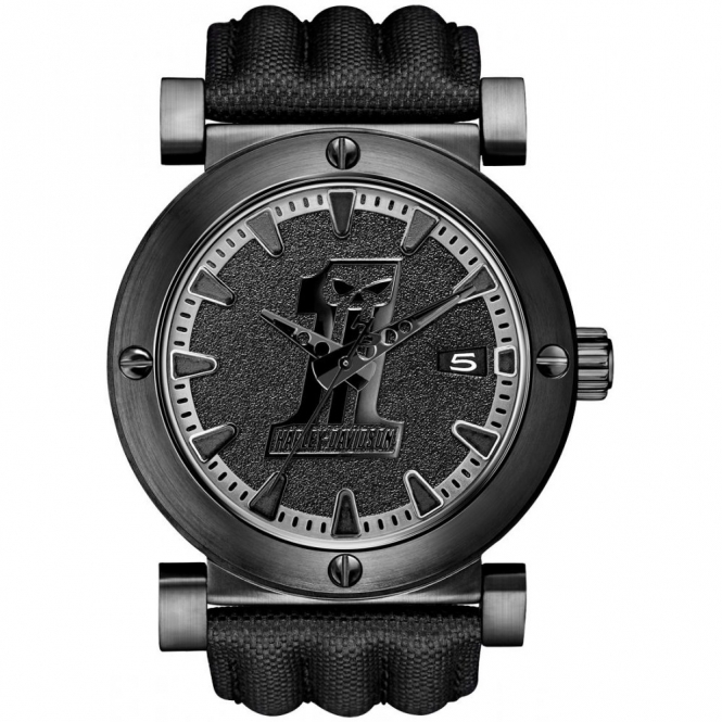 Harley Davidson 78B131 Men's Racing Skull Wristwatch