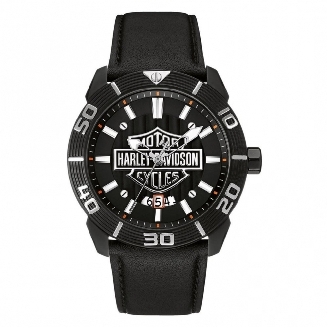 Harley Davidson 78B136 Men's Bar and Shield Wristwatch