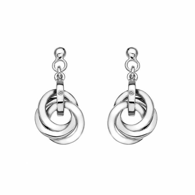 Hot Diamonds DE388 Trio Diamond Earrings