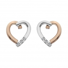 Hot Diamonds DE471 Glide Diamond Heart Earrings