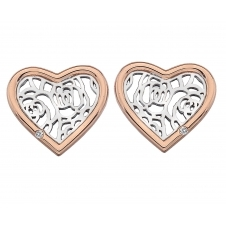Hot Diamonds DE530 Faith Heart Stud Earrings