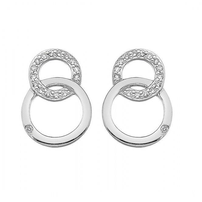 Hot Diamonds DE533 Bliss Interlocking Circles Stud Earrings