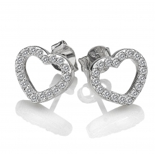 Hot Diamonds DE535 Bliss Heart Stud Earrings