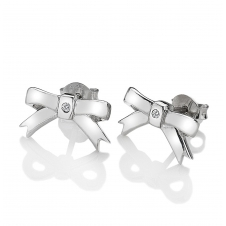 Hot Diamonds DE536 Ribbon Stud Earrings