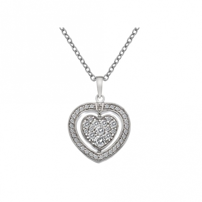 Hot Diamonds DP606 Turning Heart Pendant