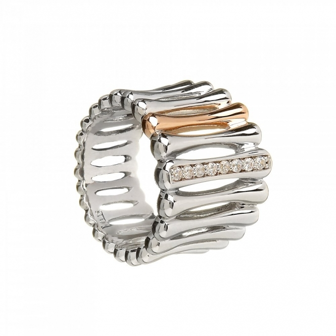 House Of Lor H-20006 Bar Stone Set Ring Size N