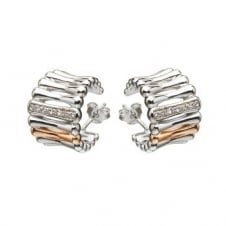 House Of Lor H-30002 Stone Set Huggie Earrings