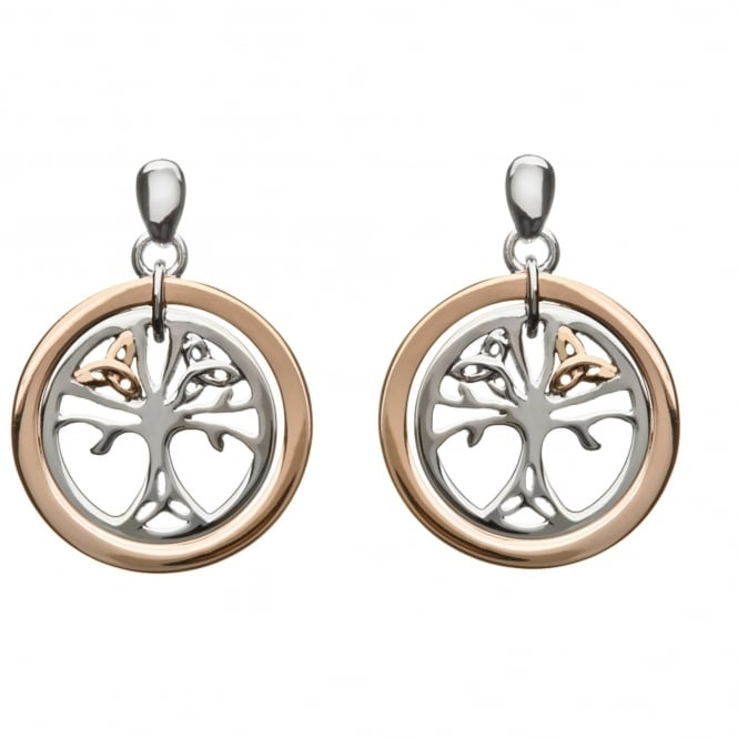 House Of Lor H-30017 Trinity Life Tree Drop Earrings