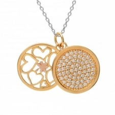 House Of Lor H-40013 Silver Double Round Pendant