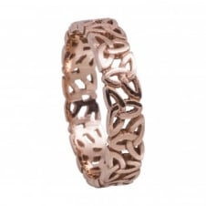 House Of Lor RNGD013RNNU Rose Gold Celtic Trinity Ring Size T